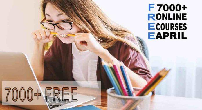 Free April courses due to Coronavirus