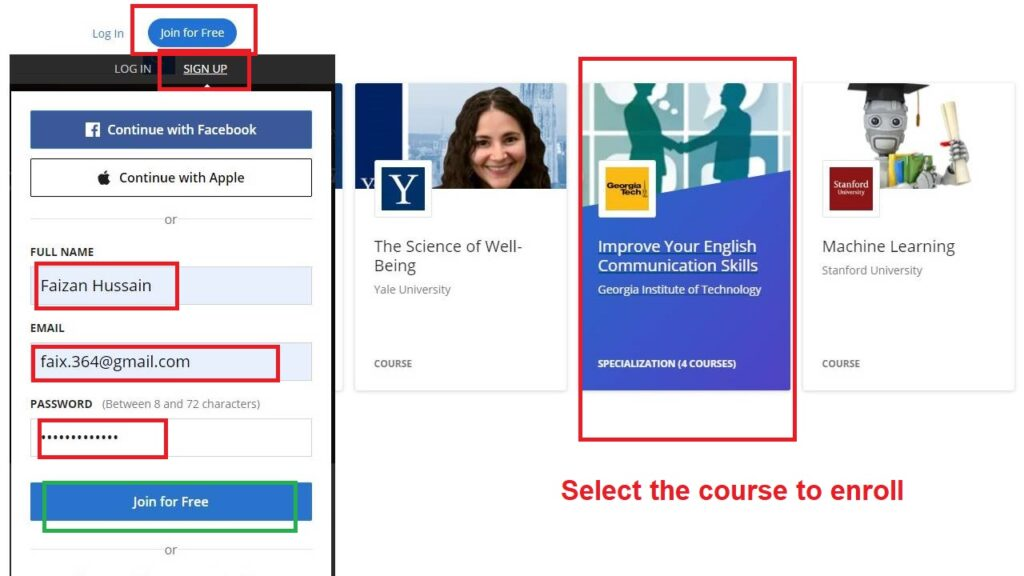 Coursera free courses and certificates