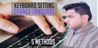 how to change keyboard language