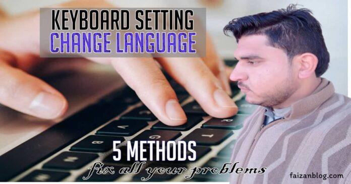 how to change keyboard language