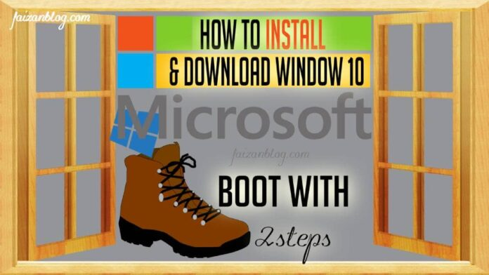 how to install windows 10 on new pc