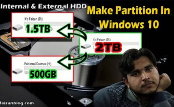 how to make partition in windows 10